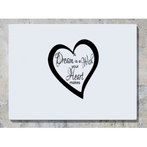 A Dream Is A Wish Your Heart Makes Wall Art Decal Sticker Picture