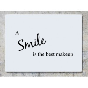 A Smile Is The Best Makeup Wall Art Decal Sticker Picture