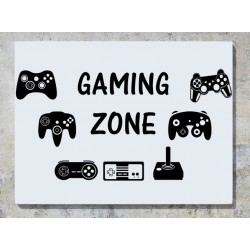 Gaming Zone Controllers Gamepad Joystick Wall Art Decal Sticker Picture