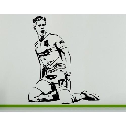 Kevin De Bruyne Belgium Football Soccer Player Wall Art Decal Sticker Picture