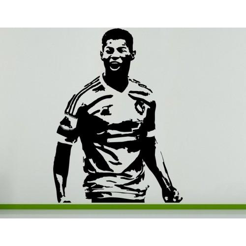 Marcus Rashford English Football Soccer Player Wall Art Decal Sticker Picture