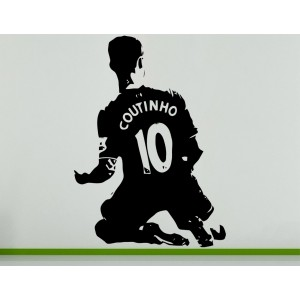 Philippe Coutinho Brazilian Football Soccer Player  Wall Art Decal Sticker Picture
