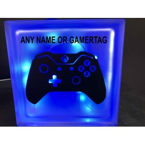 XBox Glass Block with Led Lights and Custom Name / Usertag